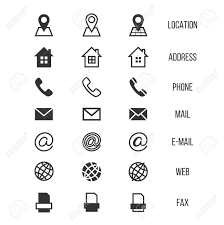 Phone And Address Business Card Vector Icons Home And Phone Address And Telephone