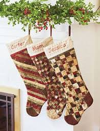 Christmas stockings If you like them Pinit for later. | Christmas ... & These quilted Christmas Stockings make a fun holiday project and they are  easy… Adamdwight.com