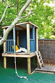 here s a selection of outdoor playhouses for kids give your children their own space to play in the garden by choosing or making a cool kid s playhouse