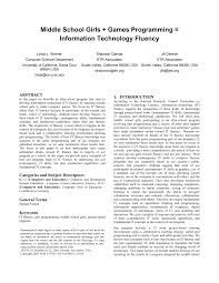 Computer Science Ucsc Curriculum Chart Pdf Middle School Girls Games Programming Information