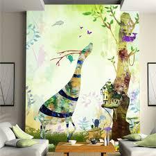 Natuur Dier Herten Diy 3d Behang Muurschildering Rolls Cartoon