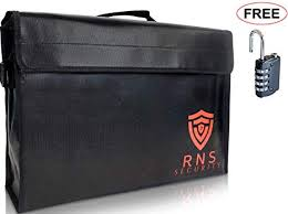 <b>Fireproof document Bags</b>-Large <b>Fire Proof</b> Lock Box-<b>Portable</b> Safe ...