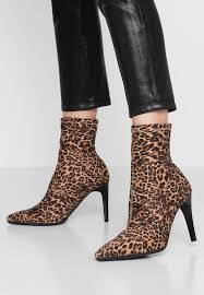 high heeled ankle boots multicolor