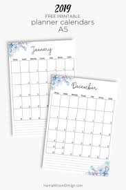 Free Yearly Calendar Monthly Planner Printable Printable