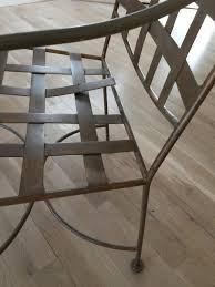 Woven metal furniture Chindi Chair Reader Wants To Fix The Metal Straps On This Chair reader Photo Guangzhou Serenity Made Furniture Co Ltd How To Repair Strapping On Woven Metal Chair The Washington Post