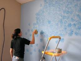 how to sponge paint painting pattern pretty walls wall techniques roller