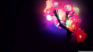 Neon Flowers wallpaper | 1366x768