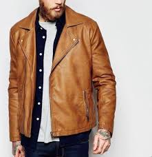 tan brown biker jacket