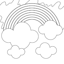 Coloring page rainbows, sun, paths and clouds. Beautiful Rainbow Coloring Pages To Print 101 Coloring