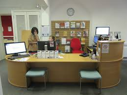 reception desk at standard height accessible