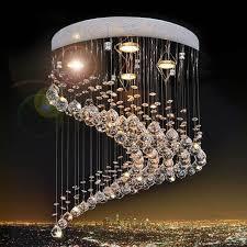 modern design flush mount modern crystal chandelier res de pendant lamp cristal home lighting dia30 h40cm led lamps 3years warranty blue pendant lights