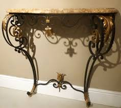 iron console table. A PAIR OF 20C FRENCH WROUGHT IRON CONSOLE TABLES - Stock Blanchard Collective | Antiques Iron Console Table