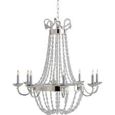 visual comfort e f chapman large paris flea market chandelier in polished silver with seeded glass chc1408ps sg