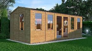 outdoor garden office.  Garden 20x10 Apex Wooden Summerhouse Outdoor Garden Office Heavy Duty 11mm Tu0026G  Shiplap Throughout