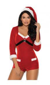 Elegant Moments Womens Santa Romper Costume ...