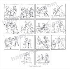 Stations Of The Cross Coloring Pages Printable My Localdea