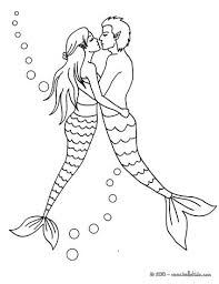 Small Picture MERMAID coloring pages Mermaid with a dolphin Coloring pages