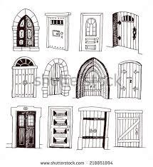 set old door icon ilration vector stock vector royalty free 218851894 shutterstock
