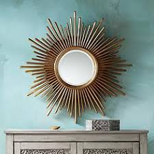 gold sunburst mirror. Sarino Gold 36 1/4 Sunburst Mirror
