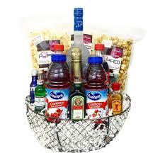 deluxe liquor gift basket