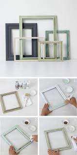 Snowed in and looking for a fun craft project? Transform plain picture  frames into vintage