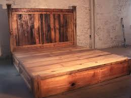 reclaimed wood king platform bed. Perfect Reclaimed Wood Platform Bed With Storage King T