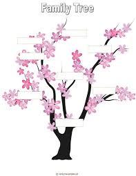 Blank Family Tree For Kids Genealogy Family History