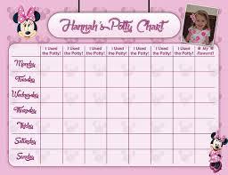 Minnie Mouse Pink Potty Chart Potty Training Chart Potty Etsy