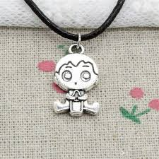 whole new fashion tibetan silver pendant baby boy 24 23mm necklace choker charm black leather cord handmade jewelry amethyst pendant necklace white gold