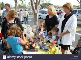 How To Have A Bake Sale Girl Scouts And Brownies Have Bake Sale With Moms Stock Photo