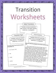 Transition Word Chart Transition Words Worksheets Examples Definition For Kids
