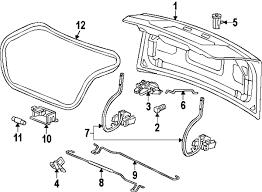 parts com® chevrolet trunk lid lid and components bumper bumper 2008 chevrolet bu classic lt v6 3 5 liter gas lid components