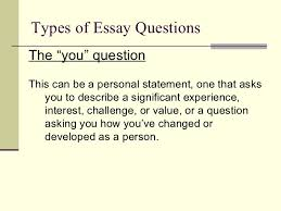 completing the college essay  9 types of essay