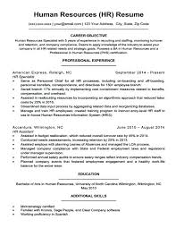 Sample Resume Human Resources Entry Level Human Resources Resume ...