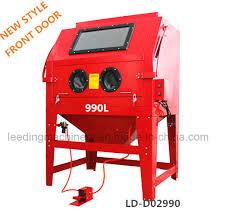 420l 110gallon sandblast cabinet air tool gloves sand blaster