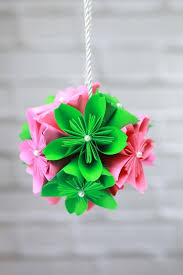 How To Make Flower Paper How To Make A Gorgeous Diy Paper Flower Ball Diy Crafts