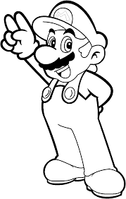 Mario Coloring Pages Featuring Mario And
