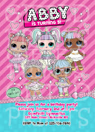 Make Your Invitation Lol Surprise Invitations From Cdn3 Combined With Alluring