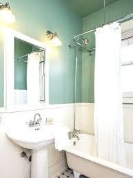 seafoam green walls green walls elegant claw foot bathtub photo in with a pedestal sink and