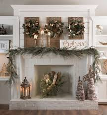 white fireplace find all of the decorating resources you need to make your living space a holiday haven when you kirkland s woodland wonder