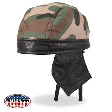 hot leathers usa made premium leather jungle camo headwrap