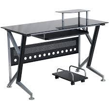 glass metal computer desk glasetal x frame corner computer desk black glass metal computer desk