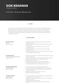 resume specialties examples help desk analyst resume samples and templates visualcv