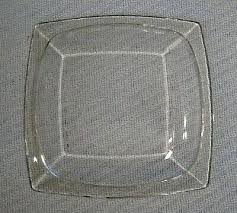 clear glass square plates clear glass square salad dessert plates 8 lot of 7 heavy