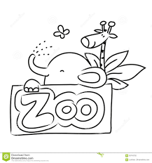 zoo drawing. Contemporary Zoo Download Zoo Cartoon Animals Stock Vector Illustration Of Drawing   83743702 And Drawing T