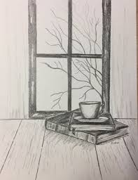 original pencil drawing coffee drawing graphite sketch pencil sketch print book drawing still life drawing black and white artwork drawing