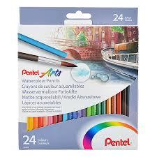 Nikko Spray Paint Color Chart Pentel Watercolour Pencils Set Of 24