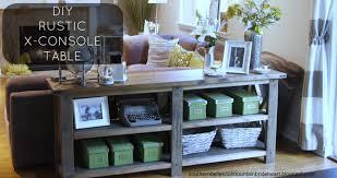 Diy Rustic Sofa Table Console Table Sofa Entryway Narrow Recycled Farmhouse Diy Il Full