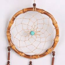 Bamboo Dream Catcher Mini Natural Bamboo Circle Dream Catcher Peacock Feather Dream 64