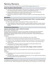 Network And Computer Systems Administrator Sample Resume Classy Resume Templates System Administrator Systems Entry Fantastic Admin